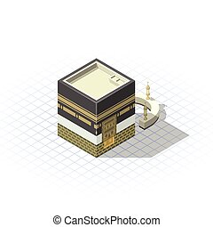 Isometric Masjid Al-Haram The Sacred Mosque - Isometric...
