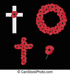 remembrance vector - set of 4 remembrance day vectors...
