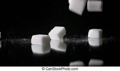 White Sugar Cane Cubes Glucose - Sugar is made from sugar...