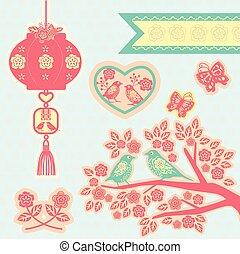 chinese elements papercut