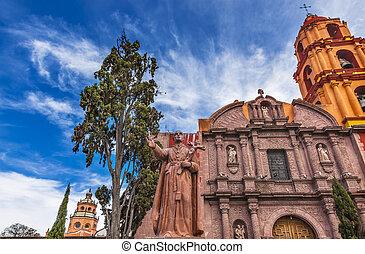 Espinosa Statue Templo Del Oratorio De San Felipe Neri Church FacadeSan Miguel Mexico