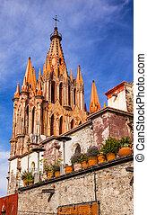 Parroquia Archangel Church Wall San Miguel de Allende Mexico
