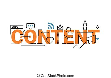 Content word lettering design - Content word lettering...