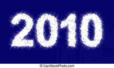 """Sparkling inscription \""""2010\"""""""