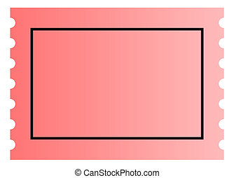 Blank ticket template - Blank pink ticket template with copy...