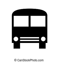Bus silhouette - Black silhouette of bus isolated on white...