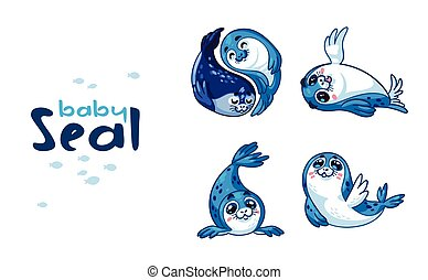 Baby Seal. Vector illustration