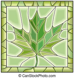 Mosaic maple leaf from tree.