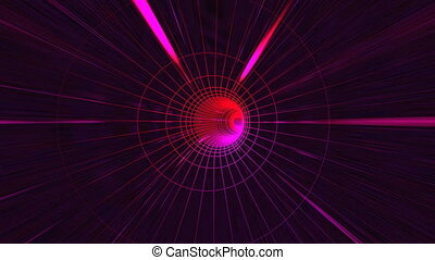 Abstract energy tunnel background - Camera flies on a...