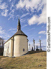 Chapel in Bavarian Alps - Chapel of Eschenlohe in Bavarian...