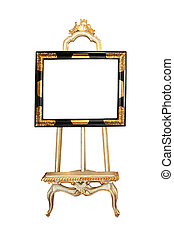 Photo easel isolated