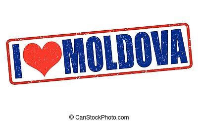 I love Moldova stamp - I love Moldova grunge rubber stamp on...