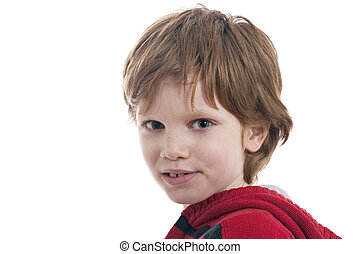 Cute Boy, isolated on white background