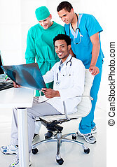 olhar,  radiograp, médico, equipe