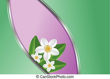 Healthy lifestyle with jasmine flowers - Spring theme...