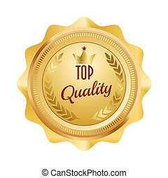 Golden Seal symbol of top quality