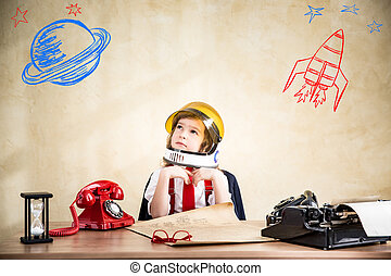 Young businessman - Portrait of child businessman in...