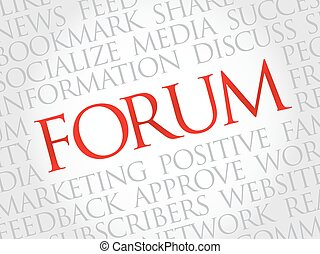 Forum word cloud, business concept