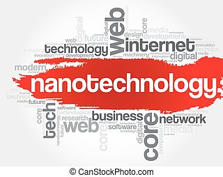Nanotechnology word cloud concept