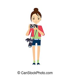 Photographer. Vector Illustration.