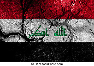 Iraq flag with some soft highlights and folds