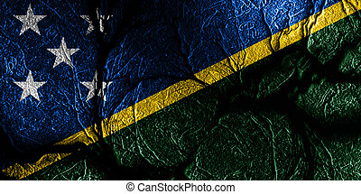 Solomon islands flag with some soft highlights and folds