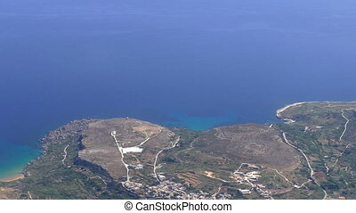 Malta Gozo island aerial view - Aerial view from aircraft...