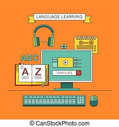 Foreign language education online. - Language learning....