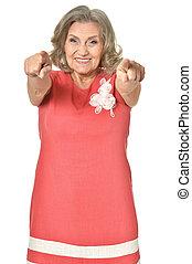 portrait of senior woman - Full length portrait of senior...
