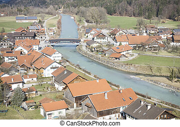 view to Eschenlohe - An image of a view to Eschenlohe...