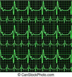Seamless background with cardiogram
