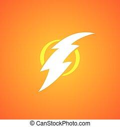 thunder bolt sign logotype