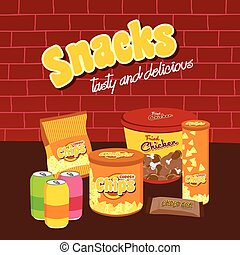 fastfood snacks theme set