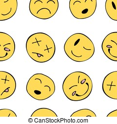 Pattern with smiley