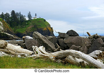 Cape Disappointment - View of Cape Disappointment Lighthouse...