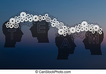 Concept of Brain storming, Knowledge sharing between to...