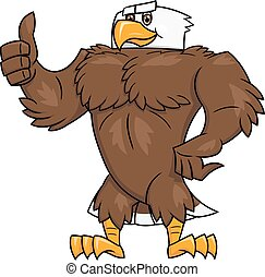 Strong eagle thumb up gesture 2 - Illustration of the strong...