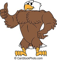 Strong eagle thumb up gesture - Illustration of the strong...