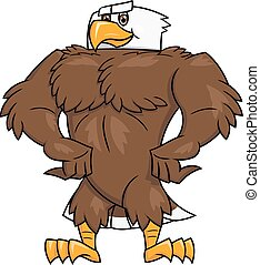Strong eagle posing 2 - Illustration of the strong eagle...