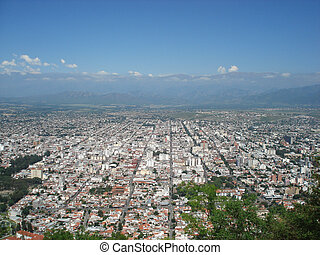 View over the city of Salta Argentina in Southamerica