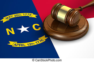 North Carolina Law Legal System Concept - North Carolina US...