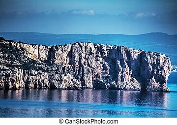 close up of Punta Giglio in Sardinia, Italy