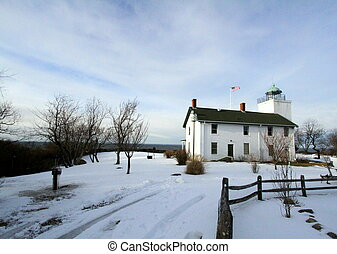 Wintery Horton Point - Horton Point Lighthouse is located on...