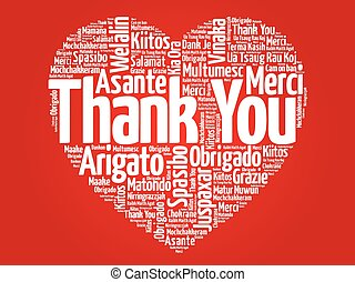 Thank You in many languages love heart