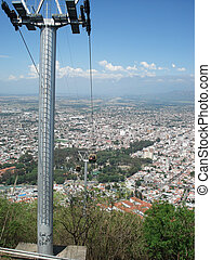 teleferic in salta argentina - teleferic of salta with view...