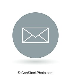 Email icon Mail envelope sign Email message symbol Vector...