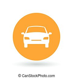 Front of car icon. Motor vehicle sign. Automobile symbol. Vector illustration.