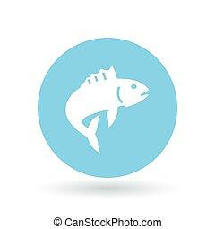 Fish icon Fish jump sign Fishing symbol Vector illustration...