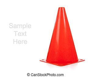 Orange safety cones on white - Orange safety cones on a...