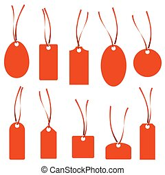 hangtag collection red - collection of different hang tags...